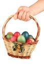 Hand Holding Easter Basket Fil...