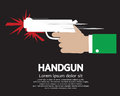 Hand holding a gun vector illustration eps Royalty Free Stock Photo