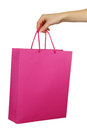 Hand holding shopping bag Royalty Free Stock Photo