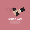 Hand holding spray can eps Royalty Free Stock Images