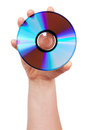 Hand holds the CD Stock Images