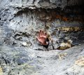 Hand in the Hole - Sandstone Rock