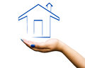 Hand home illustration Royalty Free Stock Photo