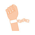 Hand human with chains