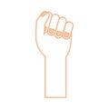 Hand human fist icon