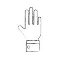 Hand human open icon