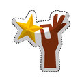Hand human with star