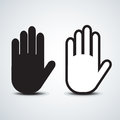 Hand icon stop symbol black abstract Royalty Free Stock Photos