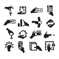 Hand icons author s illustration in Stock Photos