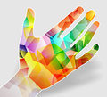 Hand illustration of a colorful Royalty Free Stock Photo
