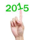 Hand with image to use in an optimistic view on year can be also used for review of the year Royalty Free Stock Photo