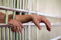 Hand in Jail Royalty Free Stock Photo
