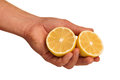 Hand with lemon Stock Photography
