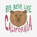 Hand lettered Big Bear like California