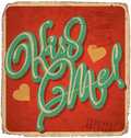 Hand-lettered vintage valentines card Royalty Free Stock Photo