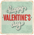 Hand-lettered vintage valentines card Stock Images
