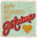 Hand-lettered vintage valentines card Royalty Free Stock Photography