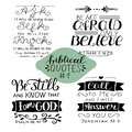 Hand lettering Collection number 1 with 4 Bible verses. Royalty Free Stock Photo