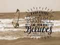 Hand lettering Everything is possible for him who believes
