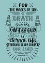 Hand lettering Gift of God is eternal life