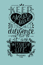 Hand lettering Keep your heart from Proverbs