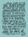 Hand lettering The temptation is not nothing but human and true God