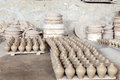 Hand made amphoras in a traditional pottery bahrain middle east Royalty Free Stock Images