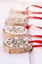 Hand-made christmas ornament decoration Royalty Free Stock Photo