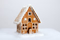 The hand-made eatable gingerbread house Royalty Free Stock Photo