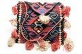 Hand made knitted turkish kilim handbag pattern h Royalty Free Stock Images