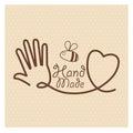 Hand Made label, handmade crafts workshop
