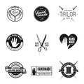 Hand made labels, badges and design elements in vintage style.