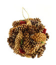 Hand made pine cone Christmas ornament Royalty Free Stock Photo