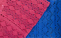 Hand Made Pink Blue Lace Background. Royalty Free Stock Photo