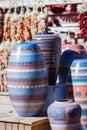 Hand made pottery Royalty Free Stock Photo