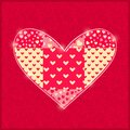 Hand made red heart valentine card Stock Photos