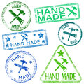 Hand made stamps rubber stamp illustrations Royalty Free Stock Photography