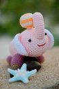 Hand made toy as elephant Royalty Free Stock Images
