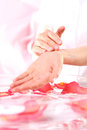 Hand massage, acupressure Royalty Free Stock Photo