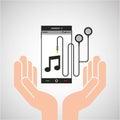 Hand mobile phone earphone note