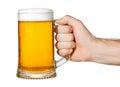 Hand with mug of beer Royalty Free Stock Photo
