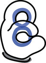 The Hand Number eight Royalty Free Stock Photo