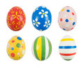 Hand painted Easter eggs Royalty Free Stock Photo
