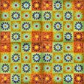Hand-painted enamel tiles Stock Images
