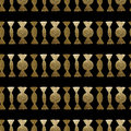 Hand painted gold candies pattern. Abstract sweets seamless background.