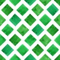 Watercolor green geometry shapes. Seamless pattern. Royalty Free Stock Photo