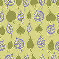 Hand painted leaves seamless pattern Royalty Free Stock Photography
