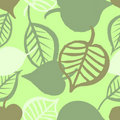 Hand painted leaves seamless pattern Royalty Free Stock Images