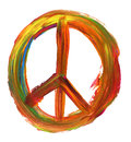 Hand painted peace sign Royalty Free Stock Photo