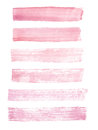 Hand painted pink watercolor grunge brush strokes